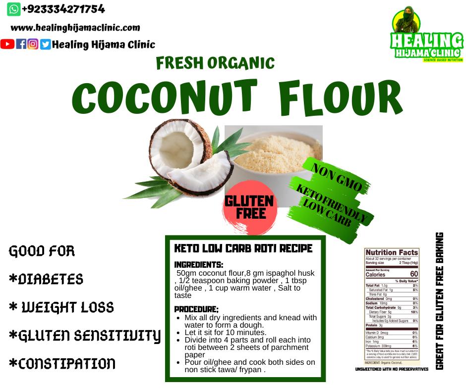 COCONUT FLOUR 1Kg (local brown)