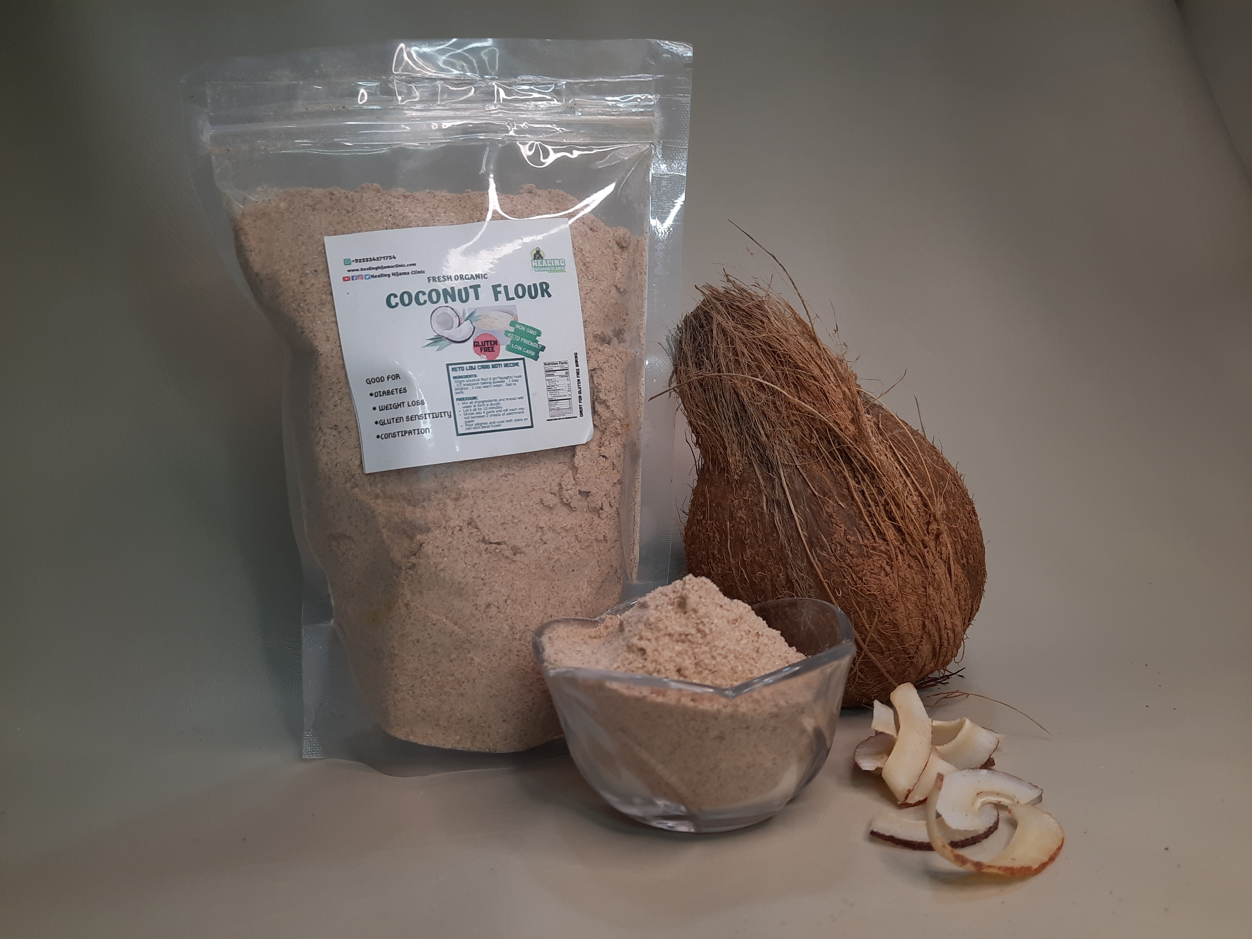 COCONUT FLOUR 1Kg (local brown)