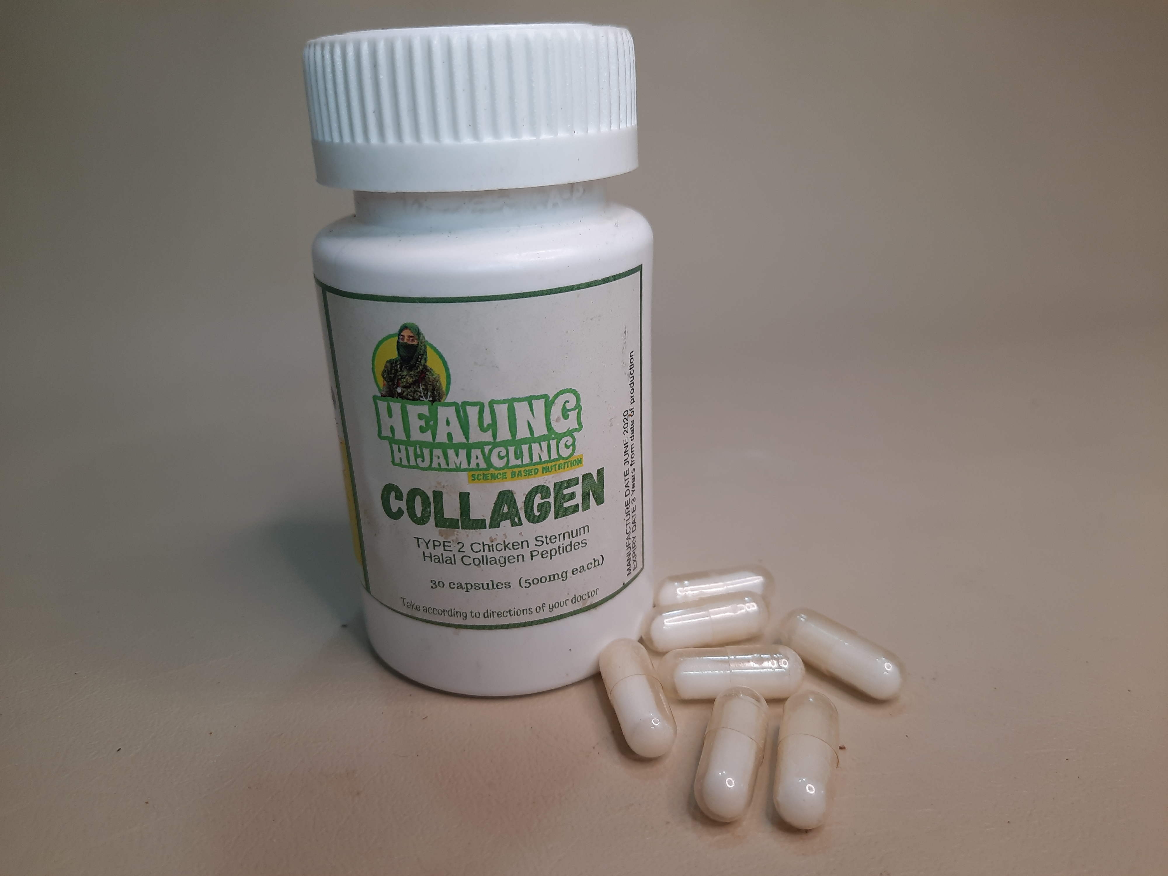 COLLAGEN 500 mg capsules Halal Chicken Sternum Type2