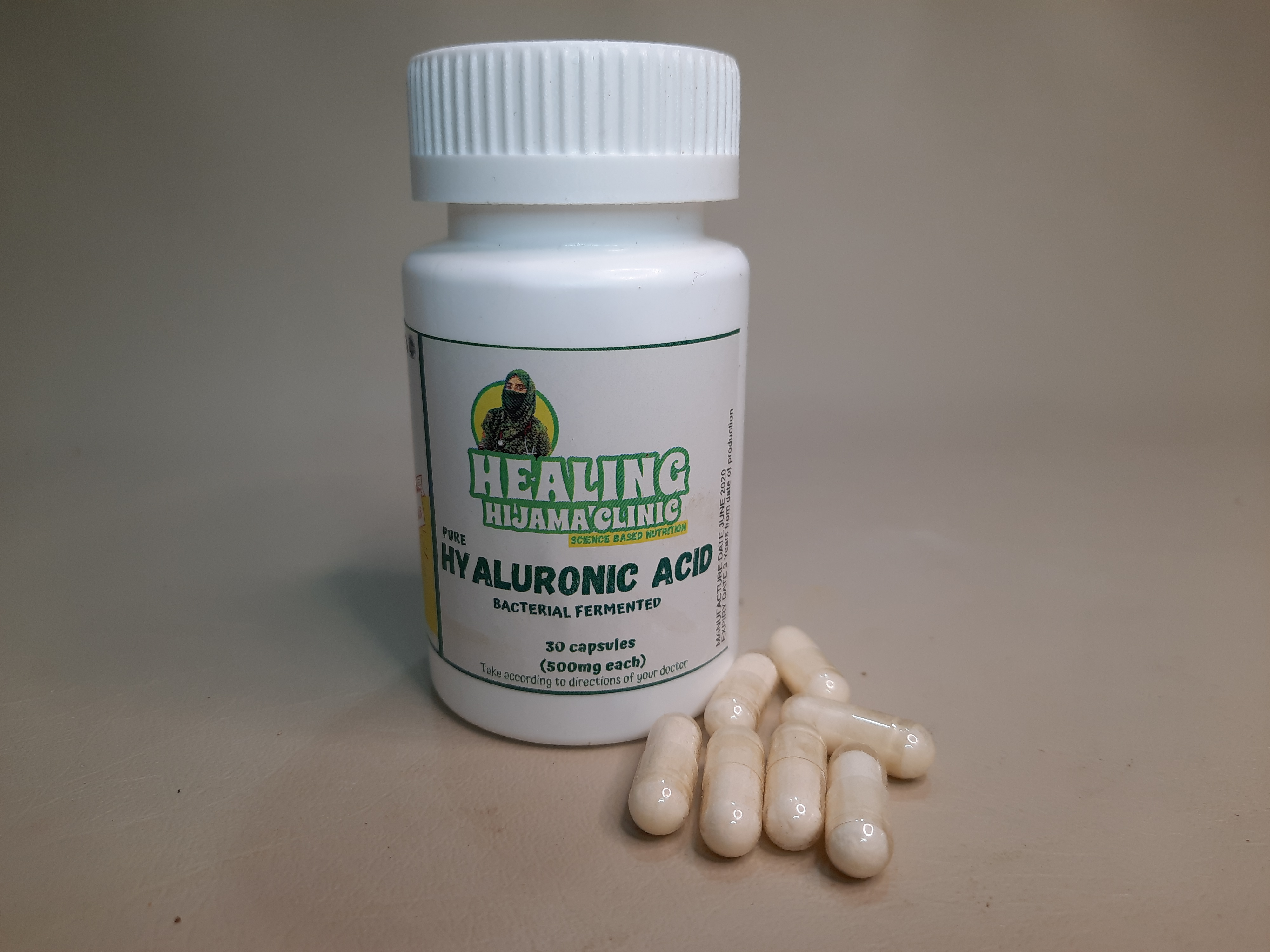 HYALURONIC ACID for 30 capsules of 500mg