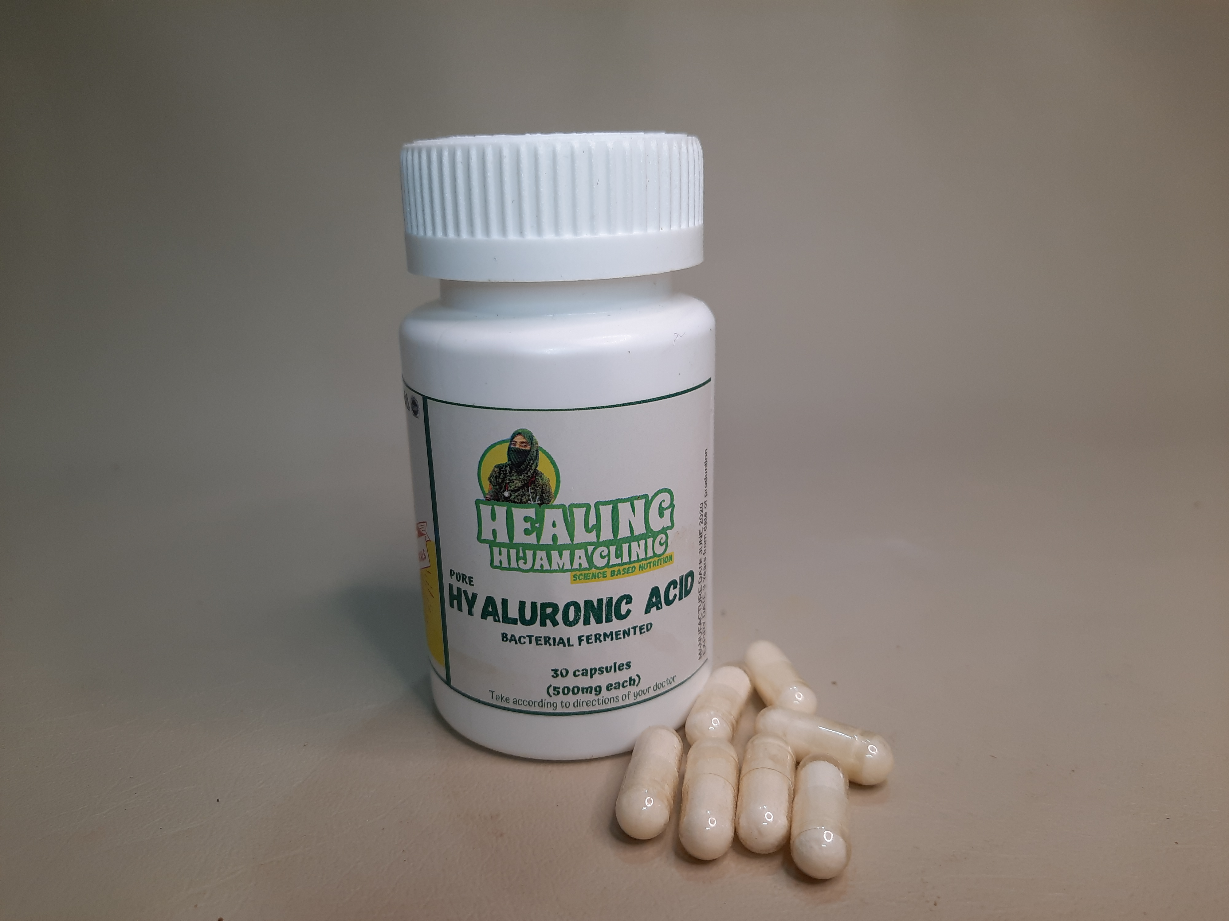 HYALURONIC ACID 500 mg capsules