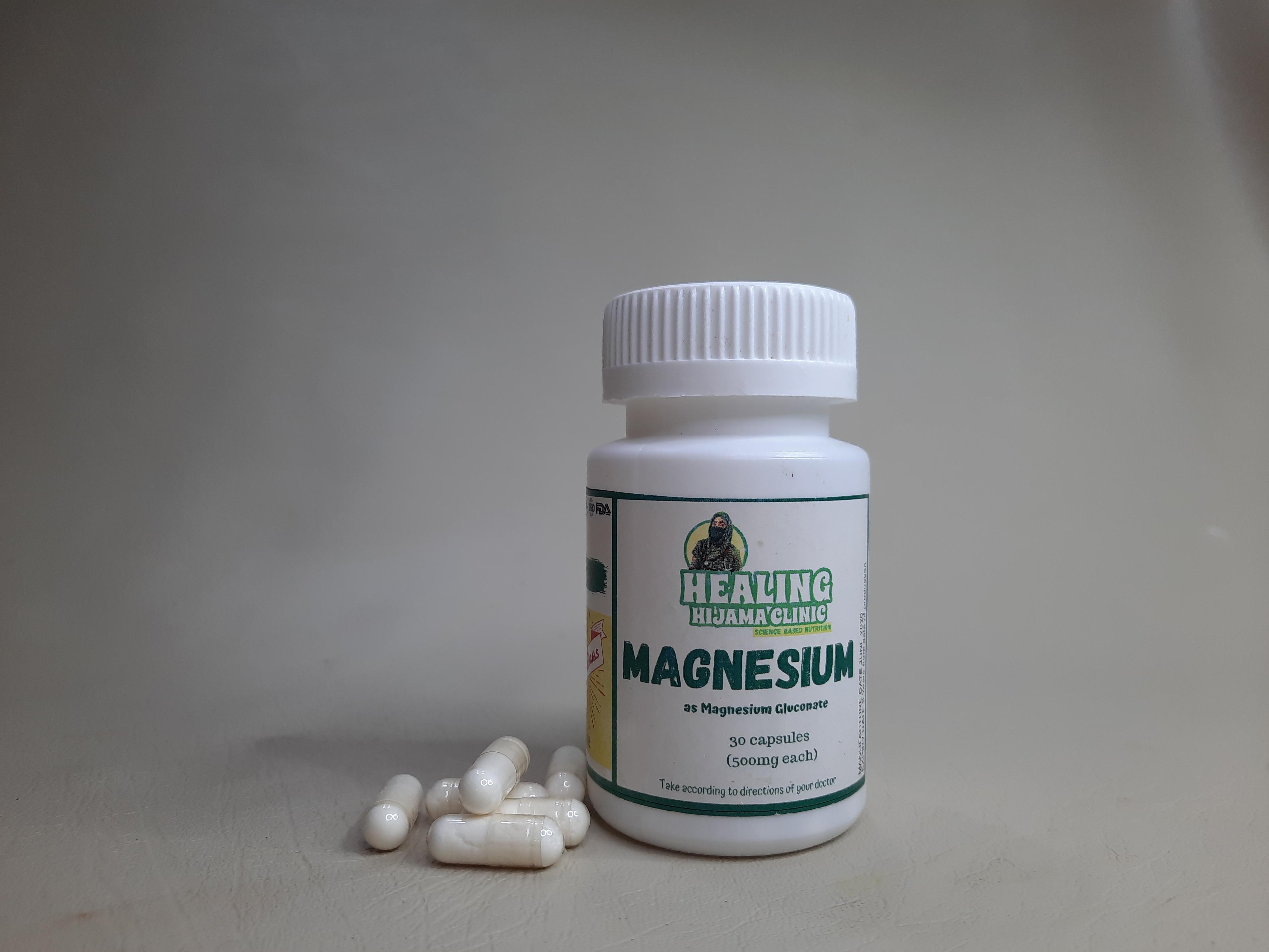 MAGNESIUM as magnesium gluconate 5OOMG CAPSULES